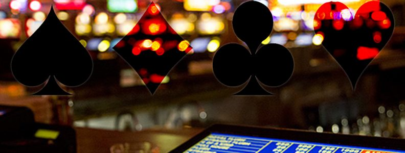 Gambar Casino Card Suites Dengan Latar Belakang Video Poker