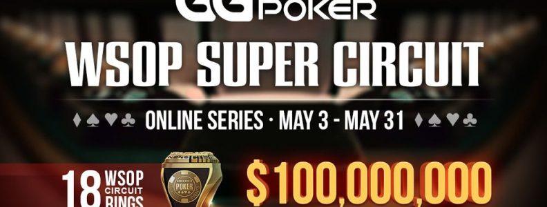 Setidaknya $ 100 Juta Akan Dimenangkan dalam WSOP Super Circuit Online Series GGPoker